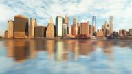 Manhattan at sunrise, New York, Time lapse video