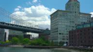 Manhattan bridge and Brooklyn, New York video