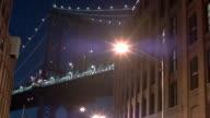 Manhattan bridge at night video