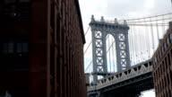 Manhattan  Bridge establishing shot New York City video