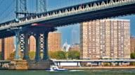 Manhattan Bridge New York City Skyline video