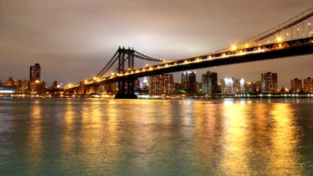 Manhattan Bridge nigthshot video