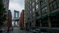 Manhattan bridge over Brooklyn video