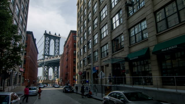 Manhattan bridge over Brooklyn video