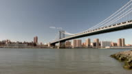 Manhattan bridge taken from Brooklyn video