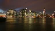 Manhattan dawn time lapse video
