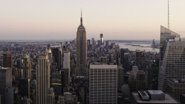 Manhattan day to night HD timelapse. New York video