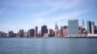 manhattan east side panorama 4k time lapse from new york city video