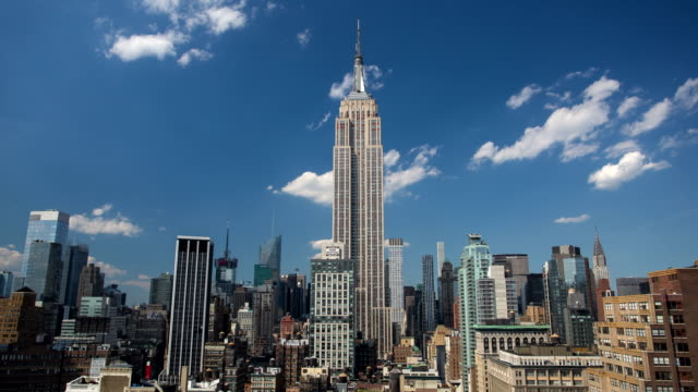 Manhattan - Empire state Building - 4K Time lapse video