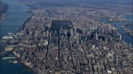 Manhattan from 5000ft - Aerial View - New York,  New York County,  United States video