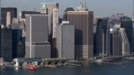 Manhattan From East River At 200Ft  - Aerial View - New York,  New York County,  United States video