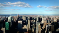 Manhattan Island from the Empire State Bulding, New York video