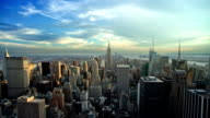 Manhattan NYC Beautiful Empire State Building Day Night Seamless Loop video
