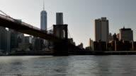 Manhattan skyline at sunset video