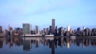 Manhattan Skyline Morning Reflections From Long Island City video