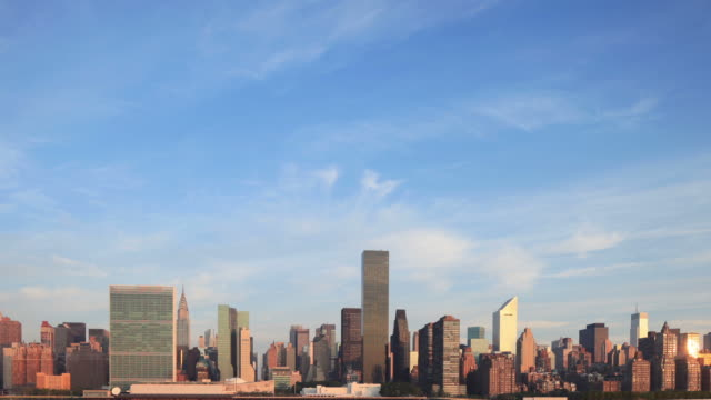 Manhattan Skyline Morning Time Lapse video