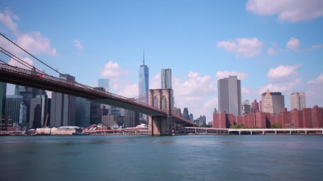 manhattan start of brooklyn bridge 4k time lapse nyc video