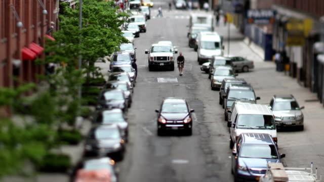 Manhattan Street Scene Traffic Lights Urban Nyc Ny video