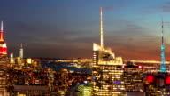 Manhattan sunset views video