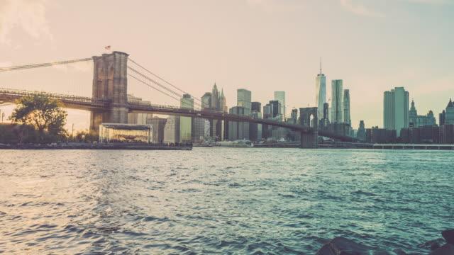 Manhattan Timelapse at Sunset, New York City video