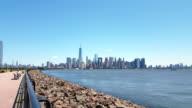 Manhattan view from across Hudson River 4K video