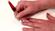 Manicure procedure in beauty salon video