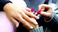Manicure procedure. video