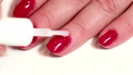 Manicure treatment in beauty salon video