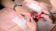 Manicure treatment. video
