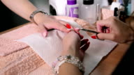 Manicure treatment. video