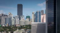 Manila Neighborhood Surrounded by Skyscrapers - Timelapse video