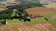 manor house and farm - Aerial View - South Denmark, Odense Kommune, Denmark video