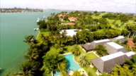 Mansions in Miami Beach aerial video footage video
