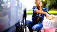 Manual car wash. video