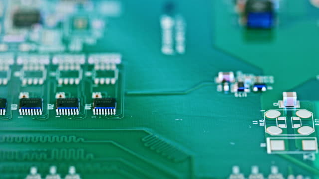 Manual instalation of mssing components on circuit board after smt video