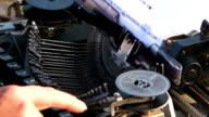 Manual Typewriter Keys Moving When Typing video