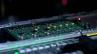 Manufacture of electronic chips. High-tech manufacturing video