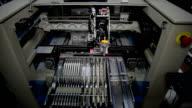 LED manufacturing machine in progress video