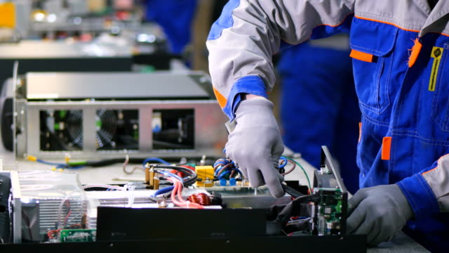 Manufacturing of electrical distribution equipment. Enclosures, components, power switches. 4K. video