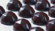Many chocolates: camera movement from left to right video