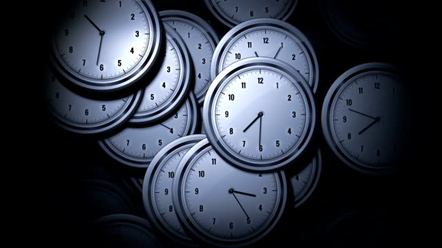 Many Clock counting Time video