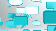 many conversation icons blue video