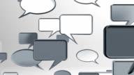 many conversation icons grey video