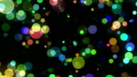 Many Motion Multicolored Round Shapes in Chaotic Arrangement video