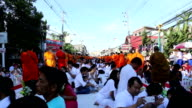 Many people give food and drink for alms to 1,536 Buddhist monks video