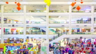 Many poeple in shopping mall,Time Lapse video