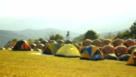 many tent in camping area video