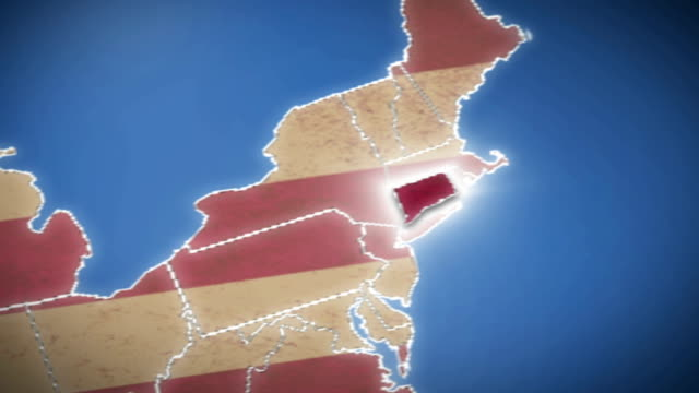 USA map, Connecticut pull out, all states available video