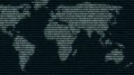 map digital world binary computer data code cyberspace graphic animation video