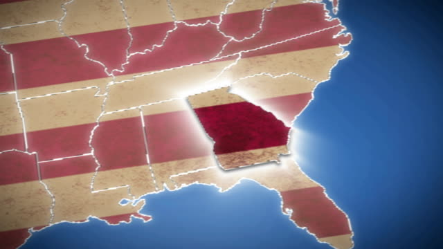 USA map, Georgia pull out, all states available video